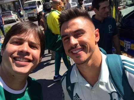 Rodrigo Fagnani com o Willian Bigode (Foto: ARQUIVO PESSOAL)