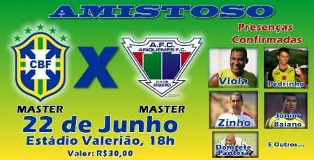 Seleção de Masters (Foto: Facebok)