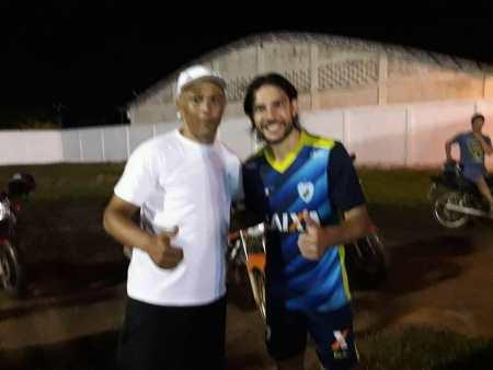 Germano e Cezar jogaram em 2003 juntos no Londrina (Foto: Alexandre Jabá)