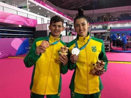 Paulo Ricardo Melo e Talisca Reis - Taekwondo - Pan (Foto: Livia Laranjeira)